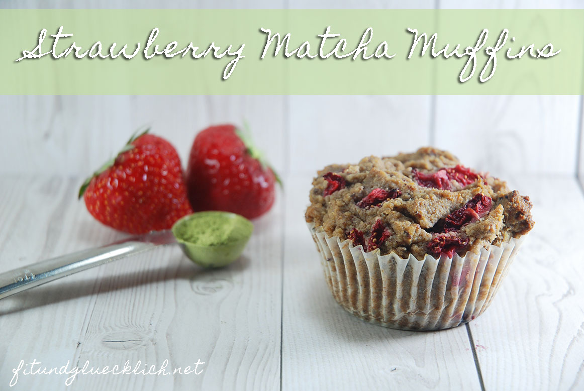 strawberry matcha muffins fit happy. Black Bedroom Furniture Sets. Home Design Ideas